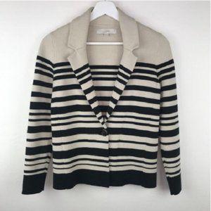 Ann Taylor LOFT Striped Cardigan Sweater Jacket
